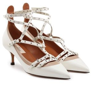 🔥VALENTINO Love Latch Ankle Strap Kitten Heel